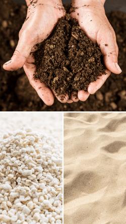 Compost, Perlite & Sand